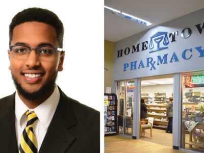 Ahamed Ahamed and the Hometown Pharmacy storefront