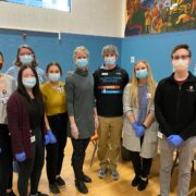 School of Pharmacy volunteers at the vaccine clinic at the Boys & Girls Taft Club in Madison.