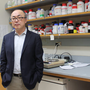 Glen Kwon in his lab