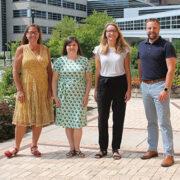 Group photo of the Pre-Pharmacy advising team at UW-Madison's School of Pharmacy