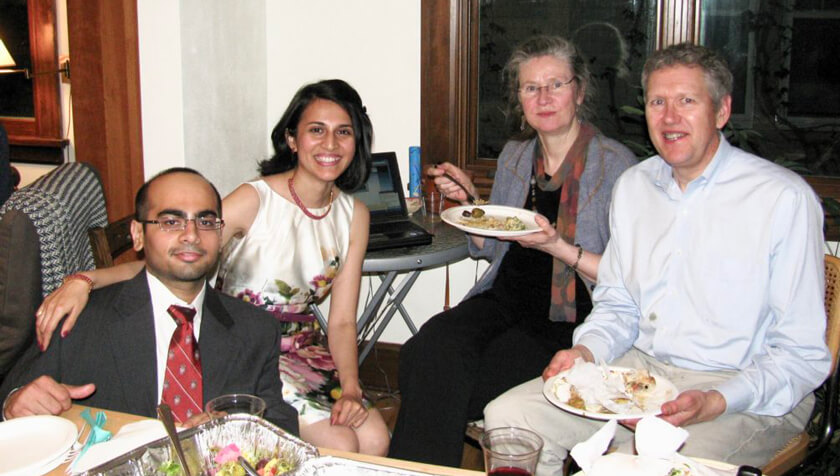 Abhijit Gadkari, Pallavi Gadkari, Betty Chewning, David Kreling.