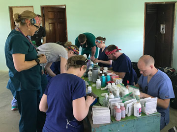 The clinical team at work in Belize.