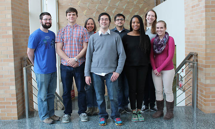 Members of the Kwan Lab in the Pharmaceutical Sciences Division at the School of Pharmacy