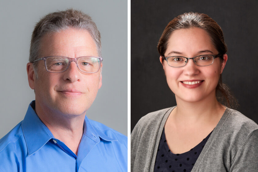 Professor Barry Gidal and Assistant Professor Amanda Margolis