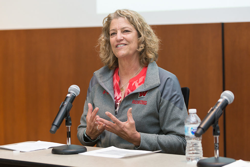 UW–Madison women's rowing coach Bebe Bryans