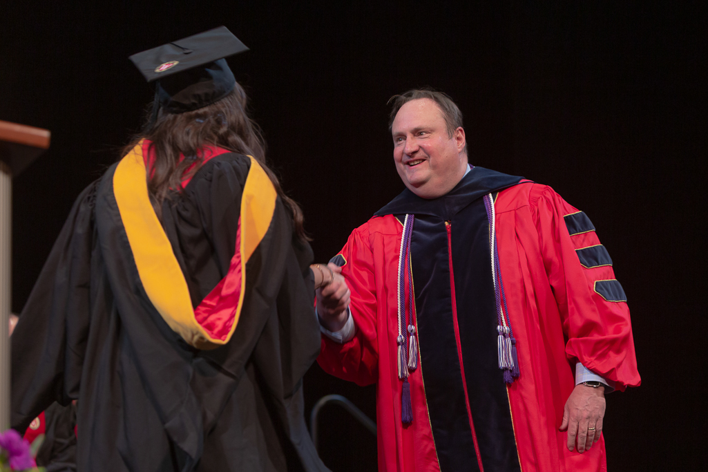 Dean Steven Swanson at the 2019 Hooding Ceremony