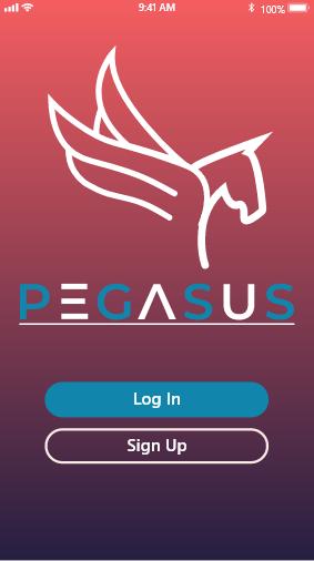 Screen shot of Pegasus Health app