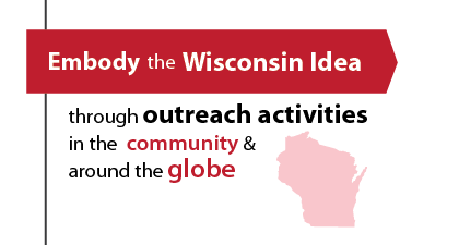 Our students embody the Wisconsin Idea through outreach activities in the community and around the globe